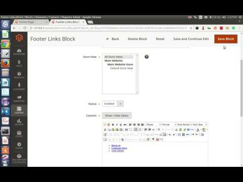 Magento2 how to ADD LINK TO STATIC BLOCK admin tutorial by webappmate