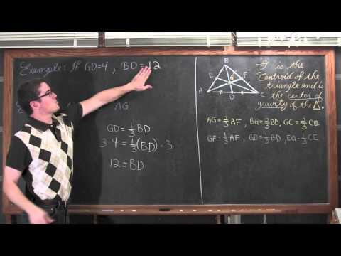 Medians of Triangles & Centroid
