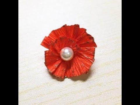 DIY peal paper flower earrings