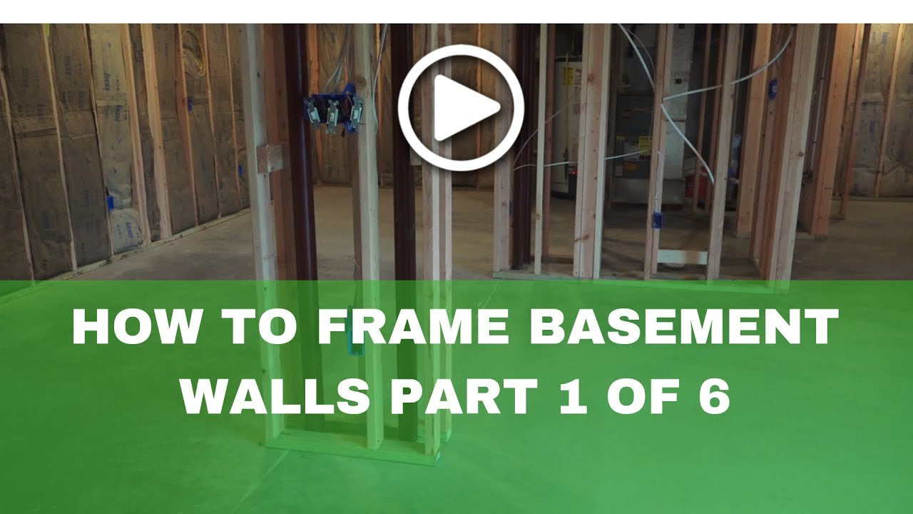 How-to Frame a Basement(basement framing tools) Part 1 of 6