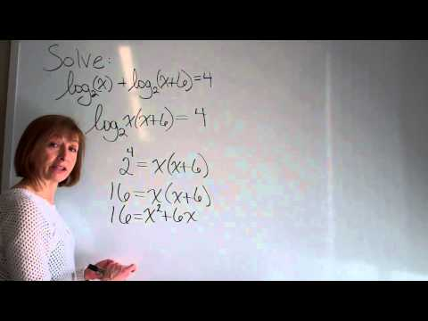 Solving logarithmic equations example 1