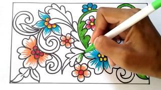 Cara Menggambar Bunga Motif Batik 35