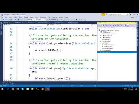 CRUD Operations in ASP.NET Core Web API and Entity Framework