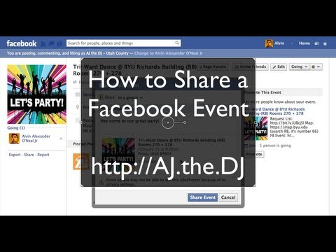 How to Share a Facebook Event