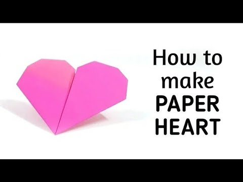 How to make an origami paper heart - 1   Origami / Paper Folding Craft, Videos and Tutorials.