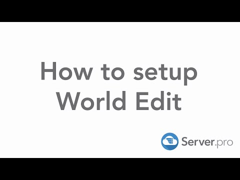 How to setup and install World Edit on your minecraft server