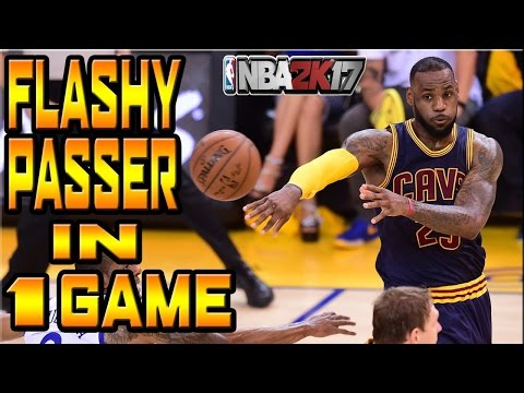 How to get flashy passer badge in one game |NBA 2k17|