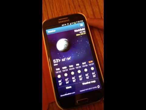 Samsung S3 - Android System (changing weather location)