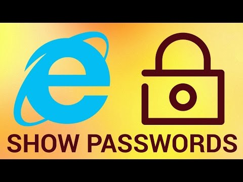 How to Display all Internet Explorer Saved Passwords