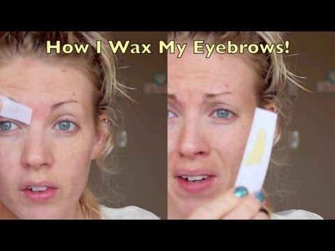 Eyebrow Waxing Tutorial!