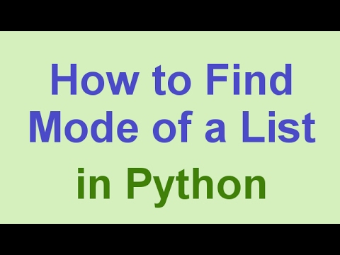 Python Tips & Tricks: Find Most Frequent Element in a List (The Mode)