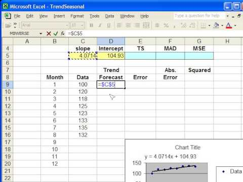 Trend Forecasting in Excel