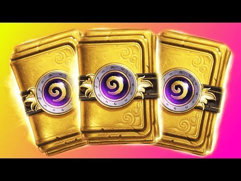 Hearthstone: How To Get 3 Golden Packs (Clickbait)