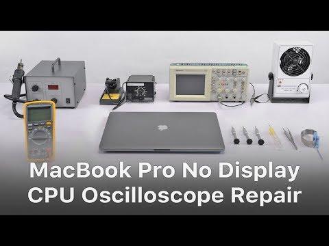 MacBook Pro A1707 No Display CPU Addressing Issue Oscilloscope Repair