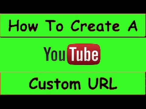 How to Change Youtube Channel URL 2015