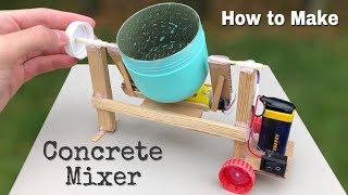 How to Make Amazing DIY Concrete Mixer Machine at Home - Easy to Build