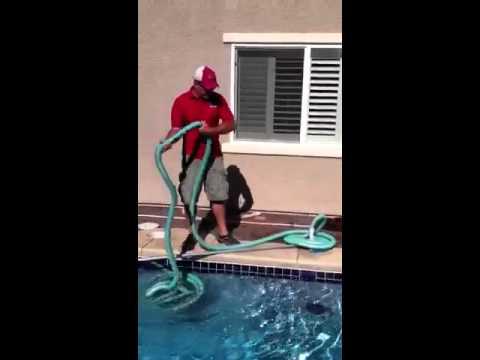 Remove pool vacuum hose.