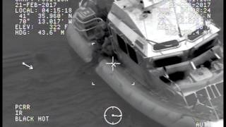 Watch the U.S. Coast Guard save man who clung to capsized boat for 12 hours in Nantucket Sound