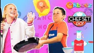 Pancake Art Challenge on Chef Set Go!   Official Orbeez