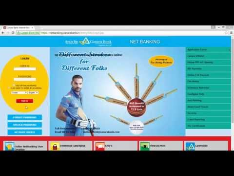 How to login first time Canara Bank Net Banking