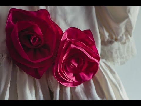 How to make a ribbon rose with wired ribbon