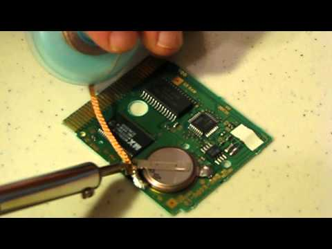 Changing a Battery in an Old GameBoy Game Cartridge