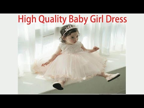 High Quality Baby Girl Dress ! 1 Year Birthday Dress for Baby Girl ! kids baby dresses for party