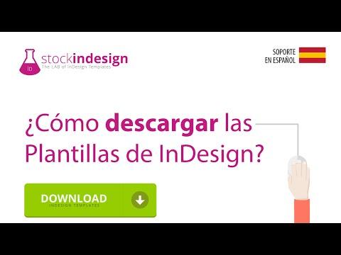 ¿Cómo descargar las Plantillas de InDesign?