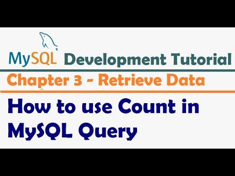 How to use Count in MySQL Query - MySQL Developer Tutorial   MySQL Tutorial for Beginners