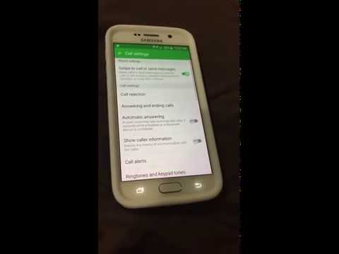 Verizon Samsung Galaxy s6 Voicemail setup