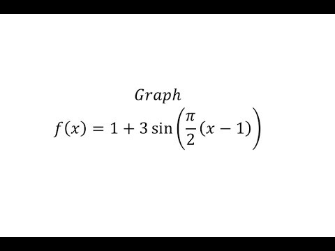 Graph a Transformation of The Sine Function y=Asin(B(x-D))+C  (Pos A)