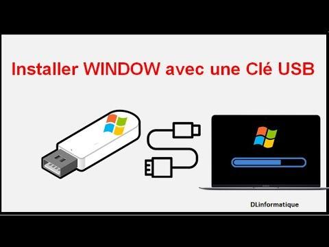 Comment installer Windows avec clé usb, pc portable ordinateur