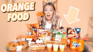 I Only Ate ORANGE Food for 24 HOURS!!