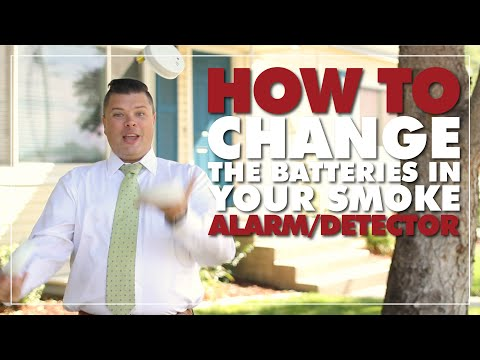 How to Change the Batteries in a Smoke Detector or Smoke Alarm