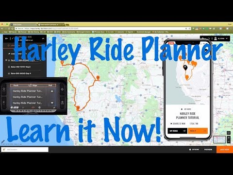 How To Use New Harley Ride Planner Online Software & Smart Phone App-Boom Box Infotainment System