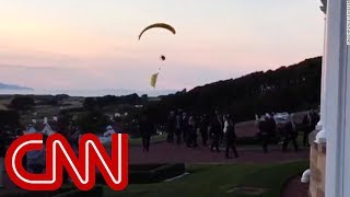 Trump protester breaches security airspace