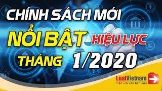Chính Sách Mới Nổi Bật Có Hiệu Lực Tháng 01/2020 | LuatVietnam