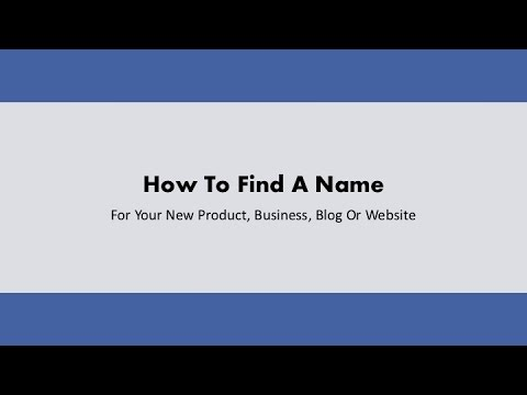 Business Name Ideas | How to find the perfect name, logo and domain name for your business
