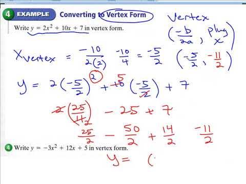 Quadratics in Vertex Form