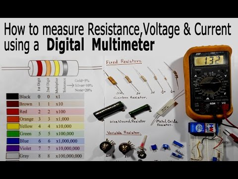 How to Use a Multimeter for Beginners - How to Measure Voltage, Resistance and Current