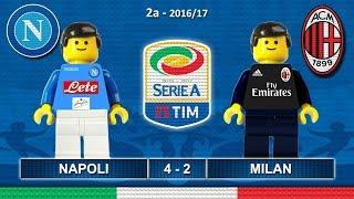 NAPOLI MILAN 4-2 • Serie A 2016/17 ( Film in Lego Calcio ) Goal e Highlights Sintesi 27/08/2016