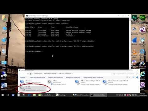 How to reset network adapter WiFi/ Ethernet using command prompt. Batch file to make it simple.