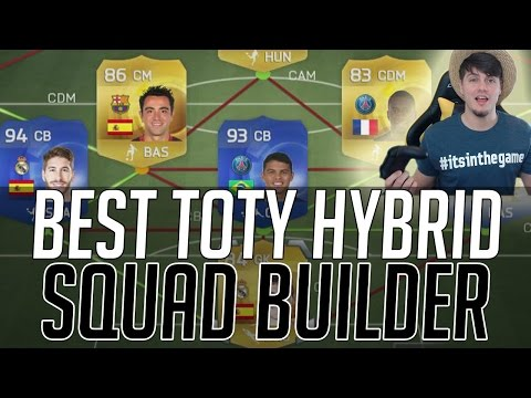 THE BEST TOTY HYBRID SQUAD - TEAM OF THE YEAR | FIFA 15 Ultimate Team Squad Builder (FUT 15)