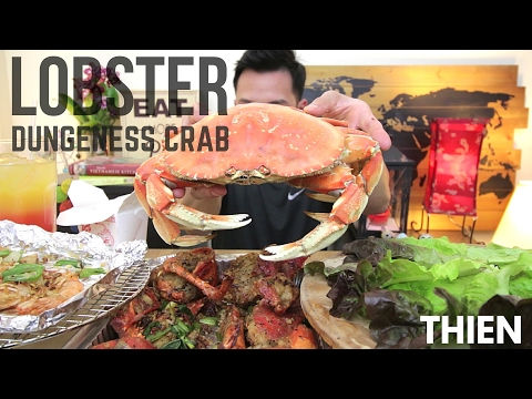 [mukbang with THIEN]: Chinese/Vietnamese-Style Lobster, Dungeness Crab, and Salt & Pepper Shrimp