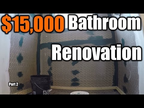 $15,000 Modern Bathroom Renovation 2 | THE HANDYMAN |
