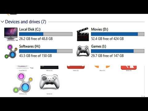 How To Change Hard Disk Drive Icon (Windows 7/8/10) Bangla Tutorial