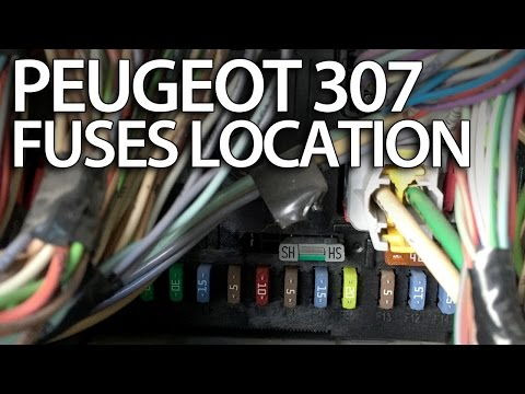 Where are fuses, relays and OBD port in Peugeot 307 (fuse box OBD2) tips