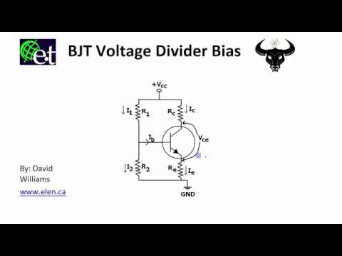 BJT - Voltage Divider Bias Circuit
