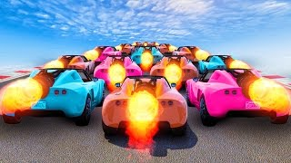NEW EXTREME ROCKET CAR RACES! (GTA 5 Funny DLC Moments)