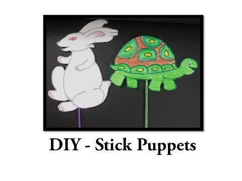 DIY - How to make Stick Puppets